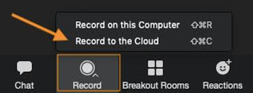 record to cloud